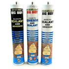 BIG BOY POLYURETHENE BLACK WHITE OR CLEAR ADHESIVE FAST CURING STRONG WATERPROOF