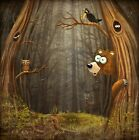 3D Forest Cute Animals 1990 Wallpaper Decal Decor Home Kids Nursery Mural Home