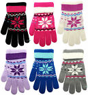 Ladies Gloves Snowflake Fairisle Design Acrylic Girls Super Soft Winter Warm NWT
