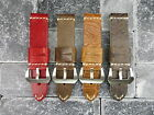 New 24mm Big Belt COW Leather Strap Brown Watch Band Grey Red Pam 1950 24 mm