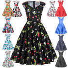 50s 60s Hepburn Swing Vintage Retro Dress Housewife Pinup Evening Party Dresses