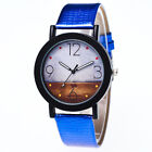 Geneva Fashion Casual Men's Women's Leather Stainless Steel Quartz Wrist Watch