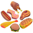 Vinyl Food Shaped Dog Toys Meat Squeaker Rubber Best Dog Chew Puppy Treat Fetch