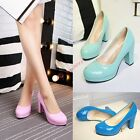 Classic Womens lock Heels Platform Office Lady Pumps Wedding Party Shoes US4-11