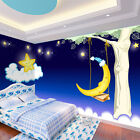 3D Lovely Moon And Star 3452 Wallpaper Decal Dercor Home Kids Nursery Mural Home