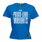 Peace Love Weights WOMENS T-SHIRT love bodybuilding training gym mothers day
