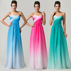 Rainbow Evening Long Bridesmaid Dress Ombre Party Prom Ball Gowns Formal 6-20