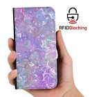 RFID Protected Pastel Party PU Leather Wallet Custom Case for Apple iPhone