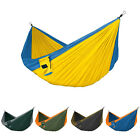 WOO Portable Outdoor Swing Hanging Bed Parachute Nylon Fabric Hammock Camping