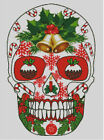 Cross stitch chart, pattern. Day of the dead, Sugar, Skull, Christmas, Xmas, #42