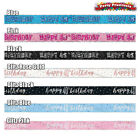 FOIL BIRTHDAY BANNER Pink Blue black Rose gold. 9ft party decoration age banners