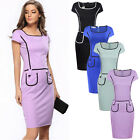Womens Bodycon Bandage Formal Office Party Evening Cocktail Mini Pencil Dress