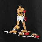 Muhammed Ali Knockout Boxing Embroidered Tee T-Shirt by Actual Fact