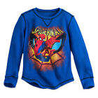 Disney Store Spiderman Super Hero Long Sleeve Thermal Tee Shirt Toddler Size 2
