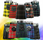 Men New Handmade Scottish Mens Kilt Traditional Highland Tartan Kilt