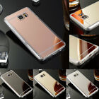 Luxury Silicone Mirror Back Shockproof Case Cover For Samsung Galaxy Note 5 4 3