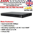 Hikvision 4Ch 4K UHD NVR DS-7604NI-K1/4P Network Video Recorder & WD Purple HDD