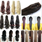 100% Real Thick Clip In Ponytail Pony Tail Hair Extension Claw On Hair Piece HG9