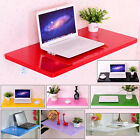 Dossy Multi-color Wall Mount Floating Folding Computer Desk Home Office PC Table