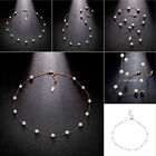 Fashion Pearl Link Chain Necklace Women Stunning Gold Plated Lady Party Jewelry