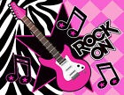 Rock Star Guitar Music Pink Rock and Roll Party Cake Decoration icing sheet