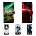 Star Wars Patterned Print Wallet Flip Case For iPhone 5 6 7 8 X SE Plus 345C $9.99 AUD on eBay