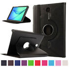 "Leather 360° Rotating Smart Folio Case Cover For Samsung Galaxy Tab A 8.0"" T350"