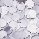 20 Silver Stainless Steel Round Blank Stamping Tags Pendants with hole