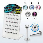 316 L Surgical steel Labret Monroe Lip Ear Stud Earring Bar Ring Piercing Tragus