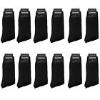 Gelante Men All Black Dress Socks Fashion Casual Cotton 3,6,12 Pairs Size 10-13