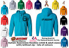 TOTALLY AUSOME AUTISM AWARENESS HOODIE JUMPER-Child/Adult Boy/Girl *NAS CHARITY*