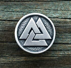 Viking Valknut Pewter Pin Brooch -Norse/Medieval/Handcrafted #1267
