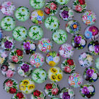 Pendant glass with flower cabochon setting Round Flat Handmade Jewelry crafts