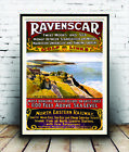 Ravenscar Golf Links , Vintage Rail travel advertising Poster reproduction.