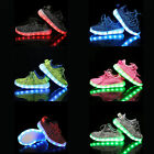 Children Kids Boys/Girls Casual Luminous Sneakers Laces Shoes Led Light Shoes
