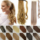 Real Thick Wavy Straight Drawstring Ponytail Clip in remy Hair Extensions hg27