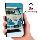 VW Kombi Van Luxury Flip Cover Wallet Card  PU Leather Phone Case Stand iPhone