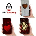Heart Love Luxury Flip Cover Wallet Card PU Leather Phone Case Stand iPhone