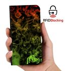 Rasta Weed Smoke Luxury Flip Cover Wallet Card  PU Leather iPhone Case Stand