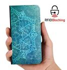 Mandala B Luxury Flip Cover Wallet Card PU Leather Phone Case Stand Galaxyy
