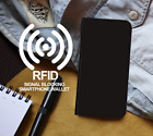 Tempered Glass+ RFID Black Gen Leather Wallet Custom Case Cover for Apple iPhone