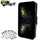Black Panther Lone Cat Lion Yellow Eyes Wild - LEATHER FLIP PHONE CASE COVER