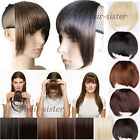 Clip ins Clip In Front Hair Bang Fringe Hair Extension Straight Blonde Brown hg8