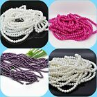~145 x 6mm GLASS PEARL BEADS Imitation Choice of Bright pink White Purple Ivory