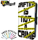 Drifting Is Not A Crime Smoke Side Ways Drift - LEATHER FLIP PHONE CASE COVER