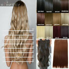100% Real Natural Full Head Clip in Hair Extensions 5clips on Straight Wavy HG8