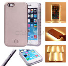 LED Light Up Selfie Phone Case Cover Rose Gold For iPhone 7 6 6S Charging