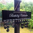 Birthday Calendar Plaque Board Sign Reminder Special Dates Plastic Hanging Gift
