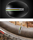 Tour de France Helmet stickers for road bike UCI world champion stripe decals