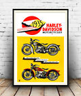 Harley Davidson 1935 , Vintage motorcycle advertising , Poster reproduction. €9.06 EUR on eBay